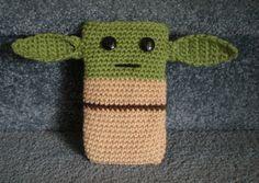 Made to order Hand Crocheted Star Wars Yoda iPhone by joyalice, $12.00