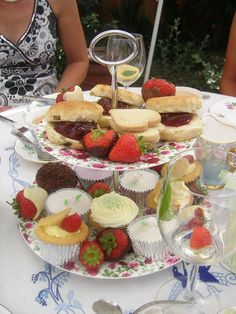 Afternoon Tea Party Menu Cakes Scones Dainty Sandwiches