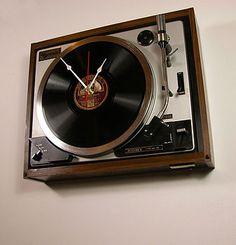 Retro Vintage Sony HMV Record Clock  by Vyconic  £199