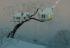 Snowy TreeHouse. #pascalcampion