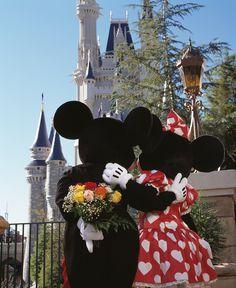 Mickey Mouse & Minnie Mouse at DisneyLand Disney Parks, Disney Pixar, Disney Love, Disney Mickey, Walt Disney World, Disney Characters, Disney Nerd, Disney Magic, Chateau Disney