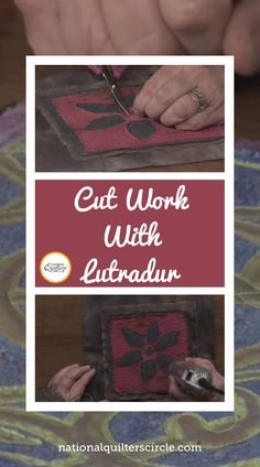 Heather Thomas teaches you how to use lutradur to add texture, layers and interest to your quilting projects. By heating the lutradur with a heat gun, the material laces and then melts in certain places to reveal your base fabric below. You can create a really unique, aged-looking design with a few quick steps. Quilting Fabric, Quilting Tips, Quilting Projects, Heat Gun, Heather Thomas, Cut Work, Sewing Basics, How To Dye Fabric, Quilt Tutorials