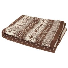 Brown Cabin Knitted Chalet blanket / Chester
