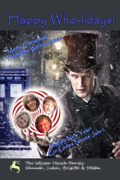 Dr Who Christmas Card