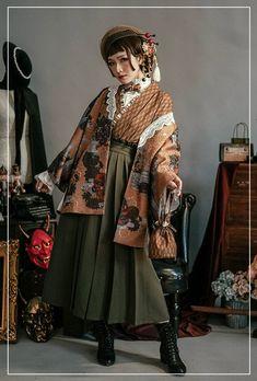 no crying in the club (monaco) ( Kimono Fashion, Lolita Fashion, Cute Fashion, Fashion Outfits, Japanese Fashion, Asian Fashion, Pretty Outfits, Cool Outfits, Modern Kimono