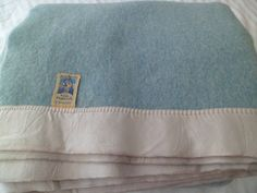 "Vintage Kenwood Blanket 100% Wool 64 x 80""~ Thick and Soft Blue Made in Canada by PleasantDaysVintage on Etsy"