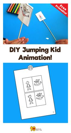 Easy paper crafts-  jumping kids animation