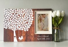 Baum Guest Book Hochzeit Gästebuch von TheGreenDovecote auf Etsy