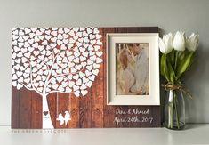 Idee di nozze albero Guest libro Wedding Guestbook