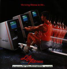 Retro Futuristic Fitness Ad