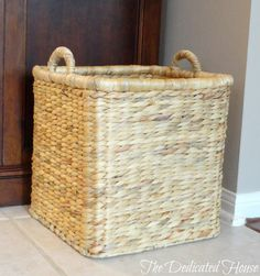A great basket.  http://thededicatedhouse.blogspot.com/2013/05/my-little-shopping-spree.html