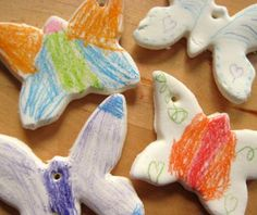 DIY Christmas gifts kids can make - cornstarch ornaments