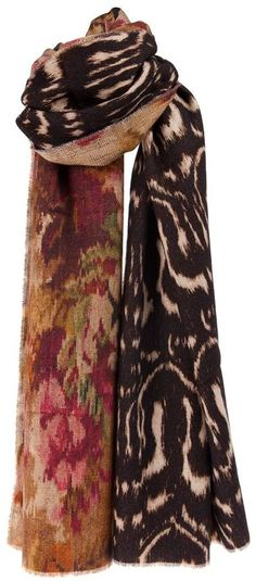$280, Dark Brown Print Scarf: Pierre Louis Mascia Pierre Louis Mascia Printed Scarf. Sold by farfetch.com. Click for more info: http://lookastic.com/men/shop_items/145024/redirect