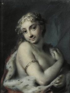 Rosalba Carriera, Winter, pastel on grey paper pasted on cardboard, 24 x 19 cm (The Hermitage, St. Dutch Golden Age, Winter Painting, Portraits, Italian Painters, Great Paintings, Art Database, Italian Art, Illustrations, Four Seasons