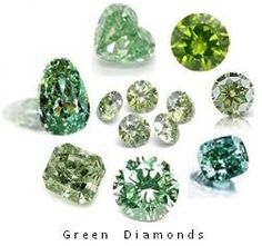 Green diamonds