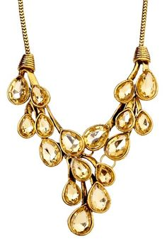 Topaz Crystal Statement Necklace by t+j Designs on @HauteLook