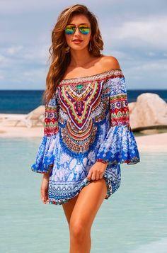 Les femmes d/'été sans manches Polka Dot Robe de Plage Femme Vacances Stretch Robe bain de soleil