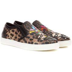 Dolce & Gabbana Slip-on Imprimé Léopard Chaussures De Sport - Multicolor fgfxDRqZo