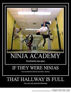 The hallway is full.