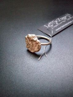 Melted sterling silver free-form ring with wire band size 5 (SOLD)