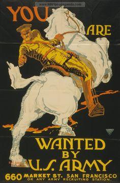 S.F. Pershing 1915 - 1918. World War I propaganda poster provided by LOC.