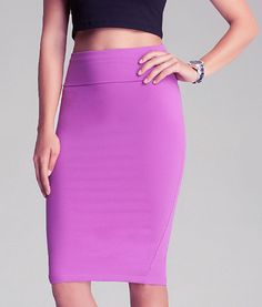 radiant orchid | Radiant Orchid Pencil Skirt