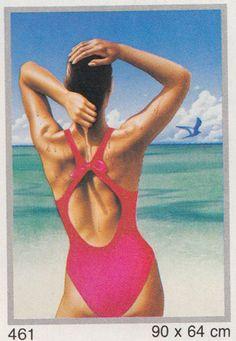 vongestern Blog: Autsch: 35 geschmacksvolle Fotographica-Poster von 1987! Airbrush Art, Story Inspiration, Childhood, One Piece, Swimwear, Blog, Poster, Babies, Design