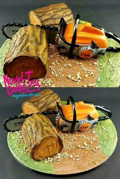Chainsaw cake from this week