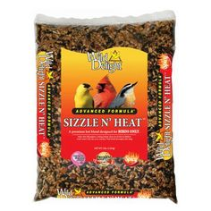 Wild Delight Sizzle N' Heat Bird Food, 5 lb. Premium hot blend designed for birds only. These hot seeds are an effective squirrel deterrent. Wholesome nuts that most desirable birds crave. Wild Bird Food, Wild Birds, Sunflower Kernels, Wildlife Decor, Hottest Chili Pepper, Spicy Chili, Backyard Birds, Paris, Stuffed Hot Peppers