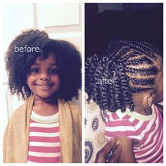 Natural hair care for kids: Moisturize, moisturize, moisturize!! Other go to ingredients: coconut oil, aloe vera gel and vegetable glycerin.