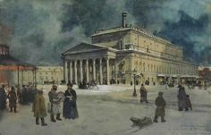 А.Бенуа View of the Bolshoi Theatre in 1885