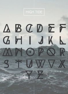 HIGH TIDE Free Typeface - I love all the shapes and how each letter has a different element making them unique. Calligraphy Fonts, Typography Letters, Typography Design, Typography Poster, Police Originale, Letras Cool, Schrift Design, Free Fonts For Designers, Typographie Logo