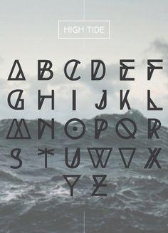 High tide free font download