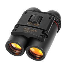 Dflamepower Mini 30x60 Compacto Plegable Binoculares Telescopio Con Impermeable Para