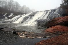 """High Falls State Park Waterfall - *Forsyth, Monroe County, Georgia*""  