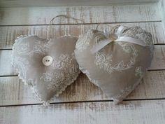 coeur en tissus à fabriquer pour décoration savoyarde                                                                                                                                                                                 Plus