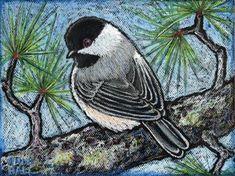 "Chickadee - Archival Print of Original Oil Pastel Painting - ""Black Capped Chickadee"" Oil Pastel Paintings, Oil Pastel Art, Oil Pastels, Bird Paintings, Black Capped Chickadee, Bird Artwork, Acrylic Flowers, Bird Drawings, Bird Design"