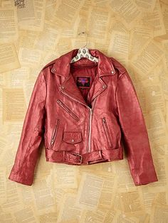 red motorcycle jacket.. HOT