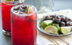 Fresh Cherry Limeade // What will you mix into this? #summer #cocktail #recipe