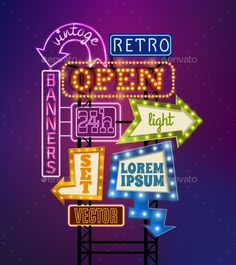 Retro Signboard Illustration