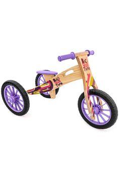 e1f92f912 Triciclo 2 em 1 Vira Bicicleta de Equilíbrio Colorida Roxa e Preta
