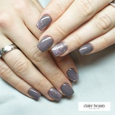For this nail design I used the claire magnificence nude soiled coloration gel. Somewhat glitter on it and youve got stunning nails. Would that be too easy for you White Coffin Nails, Gray Nails, Grey Nail Designs, Shops, Professional Nails, Just A Little, Nail Manicure, Long Nails, Claire