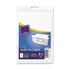 Avery White Removable Print or Write Labels  6 Inches x 4 Inches Pack of 40 (... #AveryDennison