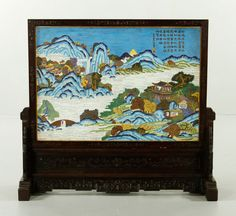 CHINESE CLOISONNE SCREEN Asian Collections Auction | Kaminski Auctions 2/22
