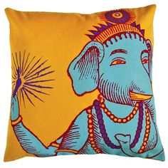 I pinned this Bazaar Pillow in Yellow from the Elegantly Eclectic event at Joss and Main!