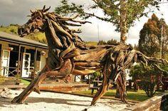 Photo: Driftwood Sculptures by Jack Marsden-mayer https://www.facebook.com/pages/Jack-Marsden-Mayer-Animal-Driftwood-Sculptures/217233335005648