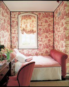 Black corner outlining. Coach House Bedroom - traditional - bedroom - chicago - Branca, Inc.