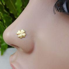 Flower Nose Stud,925 Sterling Silver Stud,Indian Nose Stud,Nose Ring,Medusa Piercing,Nose Pin,Nose Stud,Nose Jewelry,Cartilage,Piercing Nose by TheEthnicJewels on Etsy