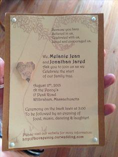 Giving Tree handmade wedding invitation