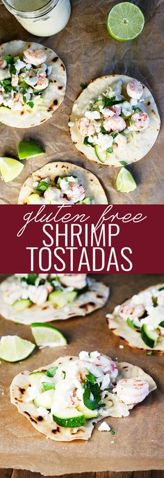 Authentic Gluten Free Shrimp Tostadas